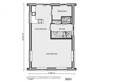 05 Lijnderdijk 197 woning Plattegrond Parterre BS01