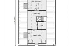 07 Lijnderdijk 197 woning Plattegrond 2e verdieping V2S01